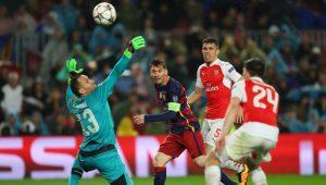 Messi contra el Arsenal futbol