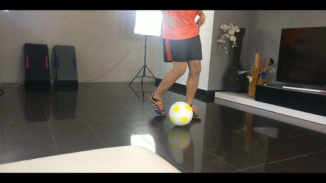 entrenar futbol en casa