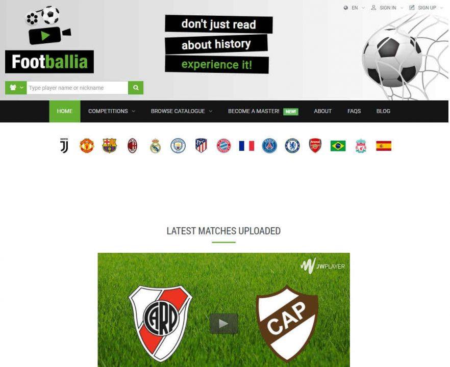 Web para ver partidos de fútbol online gratis 2020